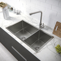 Stainless Steel Kitchen Sink 820L *450W *220/250D/ Lead free