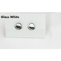 803 Toilet suite /Pneumatic Cistern /White Glass Button