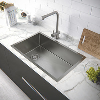 Single bowl kitchen sink with drainer board-710*450*220