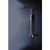 Square Fully Stainless Steel Shower Set / Lead-free IN & OUT
