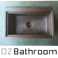 solid Copper farmhouse SINGLE bowl Kitchen sink top mount kitchen sink