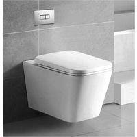 Square Wall Hung Concealed Cistern Toilet Suite