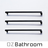 matt black towel rail