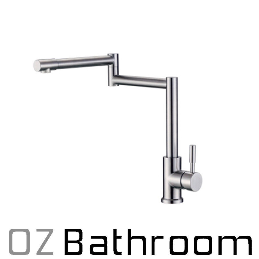 LEAD FREE kitchen mixer tap faucet Brushed 304 STAINLESS STEEL WELS ...