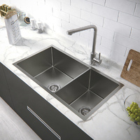 304 Stainless Steel 810*450*245 gauge Under Top mount Kitchen Sink