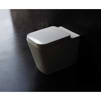 CUBE square floor mounted toilet pan