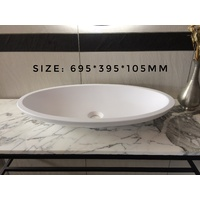 695*395*105 SOLID SURFACE Oval HAND WASH BASIN Vanity sink COUNTER TOP