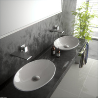 Porcelain Basin 500*350*95 for white bathroom