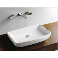 Porcelain Counter On Top Basin Vanity Sink No Tap Hole