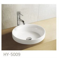 Slim Edge 400mmDIA*120mm Porcelain semi dropin basin