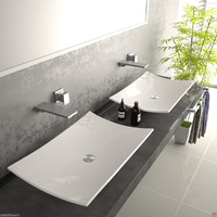 Porcelain Basin 590*390*90mm for white bathroom