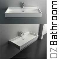 HAND WASH BASIN Vanity sink COUNTER TOP WALL HUNG solid surface
