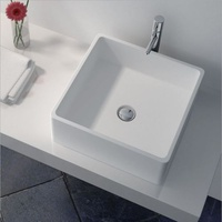 400*400*150 Solid Surface Basin for white bathroom
