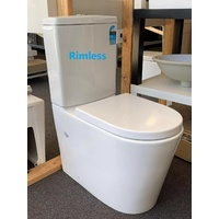 Brisbane Local pick up price / RIMLESS Toilet Suite Designer BACK TO WALL/ CLOSE COUPLED/ SOFT CLOSE Seat