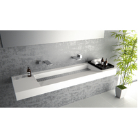Mirage Solid Surface Vanities  /for white bathroom