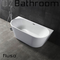 Brisbane Local Pick Up Only!!Back to wall Thin edge Japanese Acrylic Free Standing BathTub 1495x750 x580