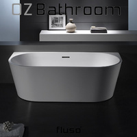 Back to wall Thin edge Japanese Acrylic Back to Wall BathTub 1695x750 - QLD or VIC Local Pick Up Only!