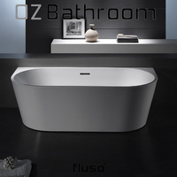 Brisbane Local Pick Up Only!!Back to wall Thin edge Japanese Acrylic Back to Wall BathTub 1695x750x580 -