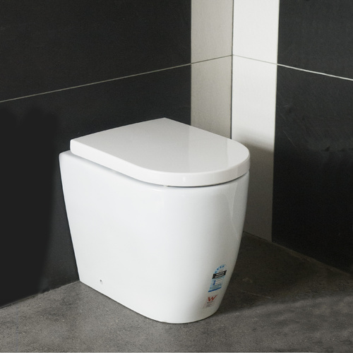 Floor Mount Rimless Toilet Suite 530L*365W*430H /for white bathroom